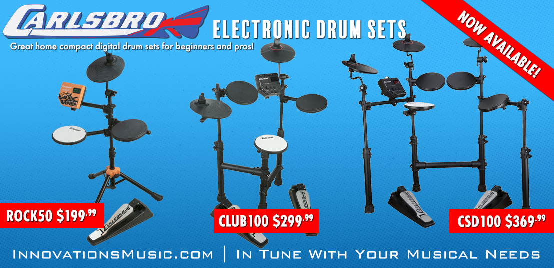 Carlsbro Drumsets Now Available!