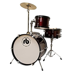 RB Percussion | 3-Piece Junior Drum Set - Black