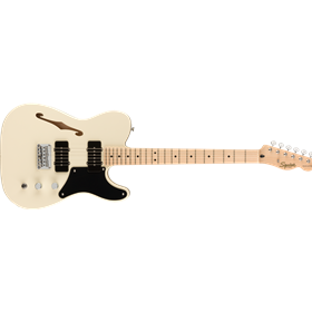 Paranormal Carbronita Telecaster® Thinline, Maple Fingerboard, Olympic White
